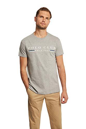 Camiseta Gris Vigore de Manga Corta para Hombre - Diseño Original