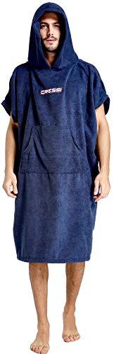Cressi Poncho Robe Albornoz/Toalla, Hombres, Azul Navy, M/L 85/110 cm