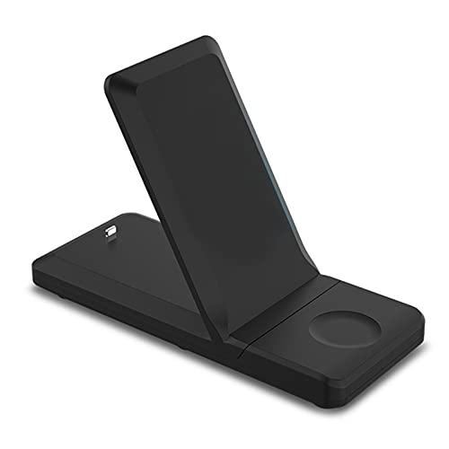 Funien Soporte de Carga inalámbrica,Cargador inalámbrico, Plataforma de Carga rápida 3 en 1 para iPhone11 / 11 Pro 8/8 Plus/XS/X/XS MAX, Base de Carga para Apple iWatch Series 5/4/3/2/1,