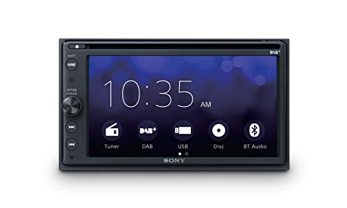 "Sony XAV-AX205ANT - Sintomonitor 2DIN con Reproductor de DVD/CD, recepción Dab/Dab+, Antena Dab incluida, Pantalla táctil de 6.4"", Android Auto y Apple CarPlay, Bluetooth, 4 x 55W, USB (iPhone/iPod)"