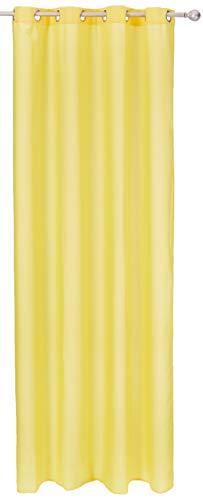 Cortinas amarillas con anillas integradas 135x250 cm