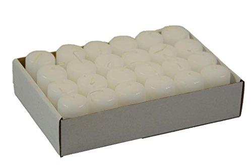 Kleine Stumpenkerze - 24 Stück - Höhe 5cm / Durchmesser 3cm - Farbe: Weiß - Safe Candle