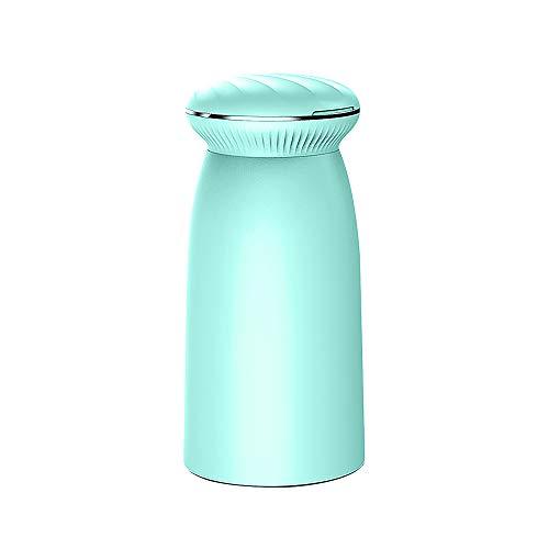 Dingong Humidificateur, 2W 350ML Mini humidificateur de coquille Home Aroma LED humidificateur diffuseur d'air purificateur Bureau (Bleu)