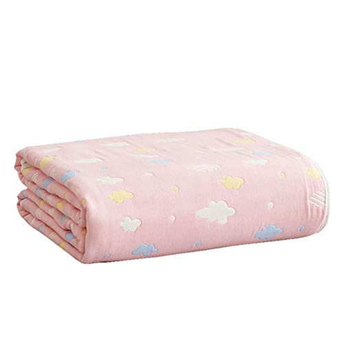 Electrica Manta Electrica Almohadilla Ropa de cama Manta multiusos Colcha de retazos Patrón geométrico Algodón rosado Estilo de la nube Lanzar Adecuado para la rodilla del bebé Manta de viaje
