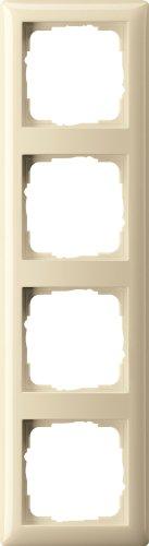Preisvergleich Produktbild Gira 021401 Abdeckrahmen 4 fach Standard 55,  cremeweiß