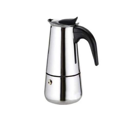 LEYENDAS Cafetera Espresso en Acero Inoxidable - Plata (9 Tazas)