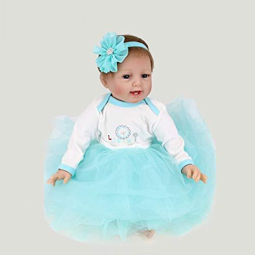 Reborn Baby Dolls Muñeca simulación Silicona Suave Juguete Infantil Aprendizaje temprano Especial Infantil Prop Regalo cumpleaños para niña