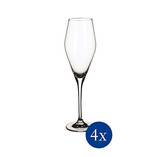 Villeroy & Boch La Divina kieliszek do szampana, zestaw 4 szt. szklany, 4-częściowy, 4