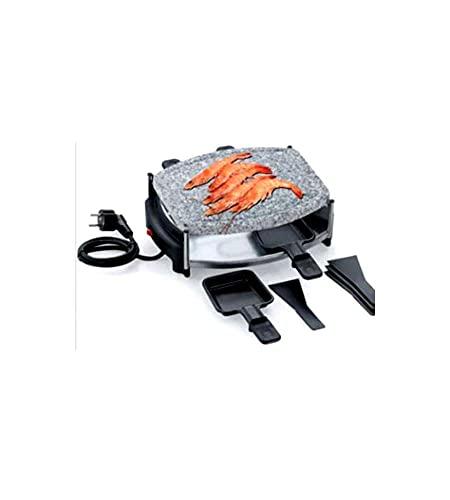 raclette ovale con pietra samedan 500w 4p eva collection
