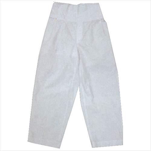 【お祭り用品・衣装】 子供用 白本ダボズボン (ダボパンツ) ウエストゴム式 (1-5・7号) D5270 - 4号