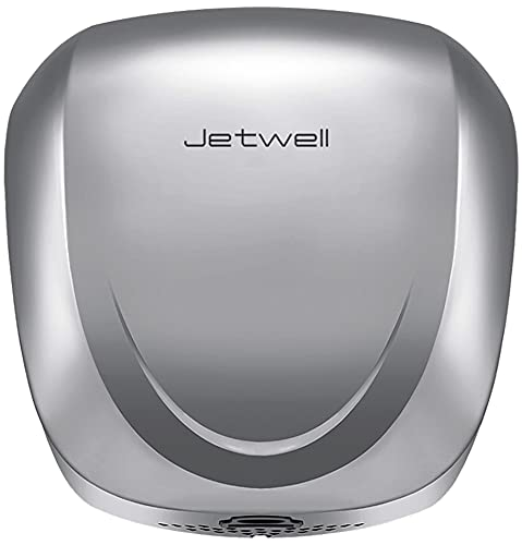 JETWELL UL Listed High Speed Hand Dryer with HEPA Filter, Commercial Automatic Eco Heavy Duty Stainless Steel Warm Wind Hand Blower