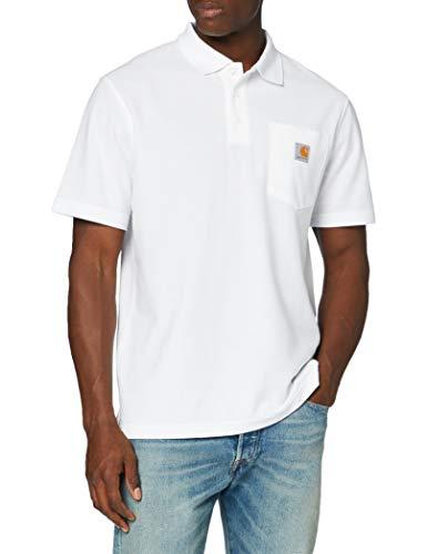 Carhartt Herren Contractor'S Work Pocket Polo Shirt, White, 2XL