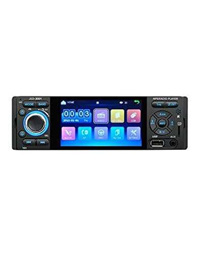 1 DIN Car Radio Fit For JSD-3001 4.1 MP5 Car Player Pantalla táctil Car Stereo Bluetooth 1Din Auto Radio Camera Mirror Link(Color:4LED Camera 16G Card)