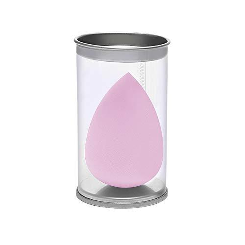 JinEamy-fr 1pcs Goutte d'eau Forme cosmétiques Puff Maquillage éponge visage Fond de teint liquide Crème Hydrophile sec humide Make Up Powder Puff avec la boîte (Color : 01 Pink)