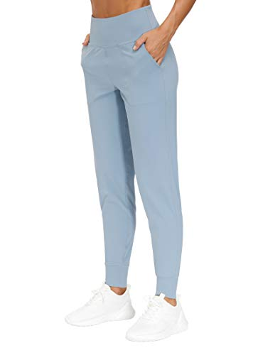 THE GYM PEOPLE Women's Joggers Pants Lightweight Athletic Leggings Tapered Lounge Pants for Workout, Yoga, Running (Medium, Denim Blue)