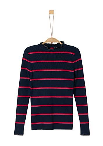 s.Oliver Mädchen 66.909.61.2014 Pullover, Blau (Blue Knitted Stripes 59x1), 152 (Herstellergröße: M/REG)