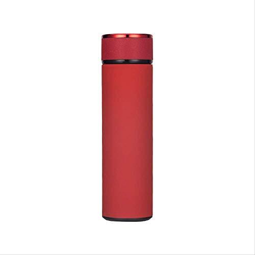 chenaa Edelstahl Isolierflasche Business 500ml rot,Edelstahl Thermoskanne für Sport, Büro, Kinder und Babynahrung | Thermobecher für Kaffee und Tee