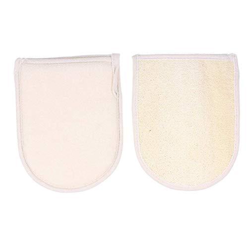 M I A 2 unids exfoliante cuerpo exfoliante guante baño loofah piel muerta removedor de limpieza profunda exfoliador guante para adultos ducha spa