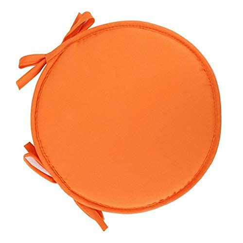 eewopjkj Set of 2 Round Dining Chair Cushions with Bows Universal Seat Cushions Cushions for Indoor and Outdoor Garden Kitchen Orange 12 x 12 Inches (30 x 30 cm)