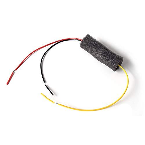 Auto Rückfahrkamera Filter, DC 12V Gleichrichter für Rückfahrkamera Anti-Interferenz, Universal Kamera Entstörfilter Gleichrichter Anti Interference Installation Kit