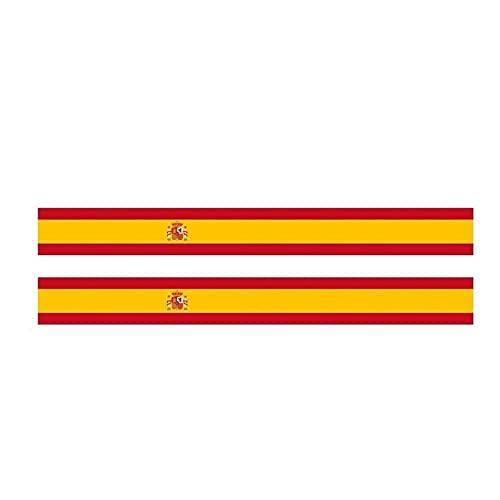 WBXZY Pegatinas de Coche 2X 17,3 CM * 1,9 CM Rayas de Personalidad Bandera de España Pegatina de Coche Ventana calcomanía 6-1159