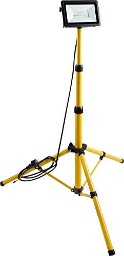 Meister Projecteur LED - 50 W - 4000 lm - Câble de 2,4 m - Trépied réglable en hauteur et enrouleur de câble - Protection IP65 - Projecteur de chantier mobile - Lampe de travail d'extérieur - 7490470
