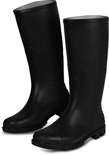 Vislaarzen Farmer laarzen rubberen laarzen met voering van textiel binnen, grof profiel [maat 37-48]