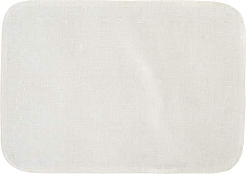 Sander abwischbare, fleckversiegelte Tischdecke Bistro Allegro, 150 cm RUND, Farbe 29- Ecru