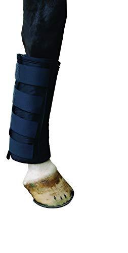 QHP Wärme- und Kühlgamasche schwarz mit 2 Wärme- Kühlelementen Klettverschluss