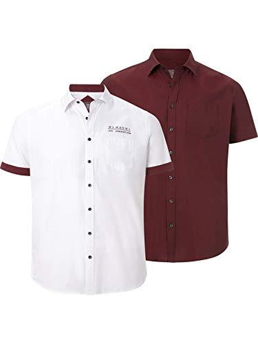 JAN VANDERSTORM Pack doble de camisa EVIN rojo 4XL