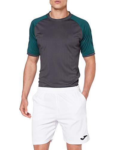Joma Master Bermuda Tennis Pantalón Corto, Hombre, Blanco, L