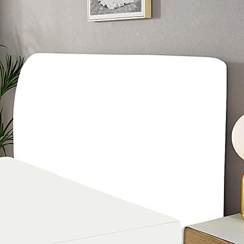 Copri Testata Letto Matrimoniale Elastica Fodera Protezione Testata Elastico All-inclusive Coperchio Europeo Soft Cover Lavabile Cover Testata Letto (170-190cm, White)