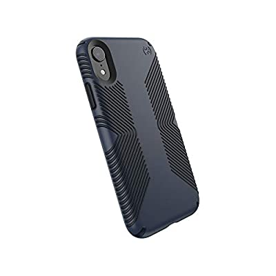 Speck Products Presidio Grip iPhone XR Case, Eclipse Blue/Carbon Black