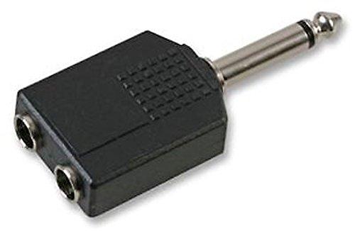 Monacor - Enchufe Mono de 6,3 mm a 2 Conectores en línea Mono de 6,3 mm