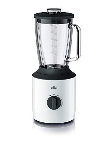 Braun PowerBlend 3 JB 3150 WH Standmixer - 1,5 l Glas-Mixaufsatz, Küchenhelfer zum Zerkleinern, Pürieren & Mixen, 800 Watt, Weiß