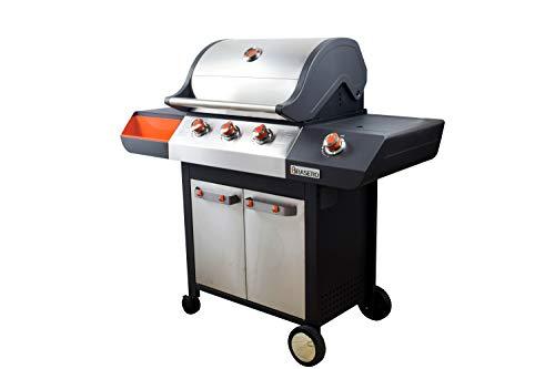 BRASERO - Barbecue Emma INOX 3 Feux + 1 brûleur latéral - Flexi Grill -...