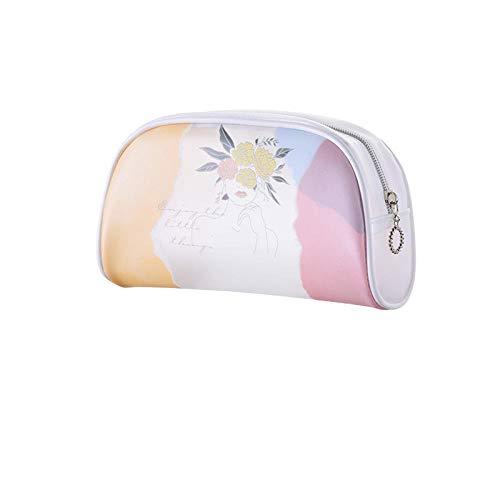 Bolsa de cosméticos para Mujer a Prueba de Agua, artículos de tocador de Viaje, Tejido de Almacenamiento, Cremallera de cáscara portátil, Bolsa de cosméticos Transparente-6