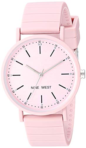 Nine West Women's Pink Silicone Strap Watch, NW/2331PKPK