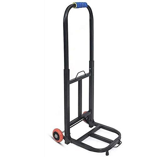MIZE Eisen Klappbarer Transportwagen Faltbar Leichtgängige Räder mit Soft-Laufflächen und bis 150 kg,Schwarz Einkaufstasche Rollen für Reisen, Geschäftsreisen, Ausflüge