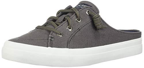 Sperry Women's Crest Vibe Mule Canvas Sneaker, Grey, 8 M US