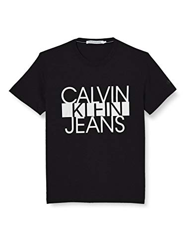 Calvin Klein Ckj Colorblock Stripe tee Camisa, Black, X-Small para Hombre