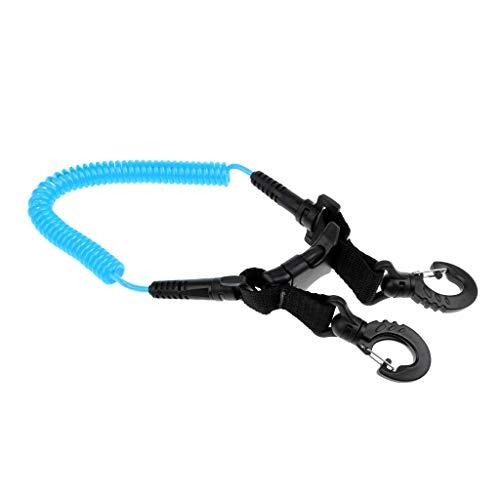 MMI-LX Del Buceo con escafandra de la Bobina de la cámara con Amarre y Clips de liberación rápida Hebilla Piscina de Agua Accesorios Lago Bay Deportes de Aventura Diver (Color : Blue)