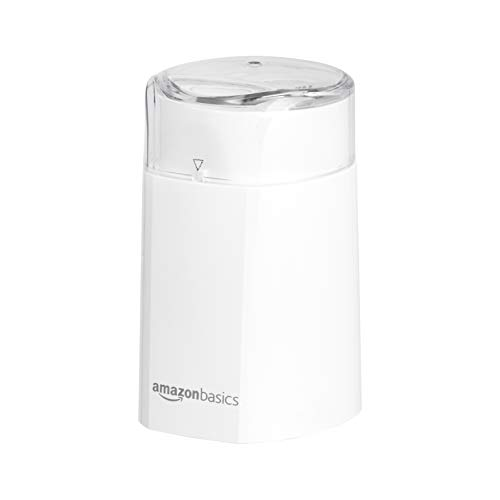 AmazonBasics Electric Coffee Bean Grinder, White