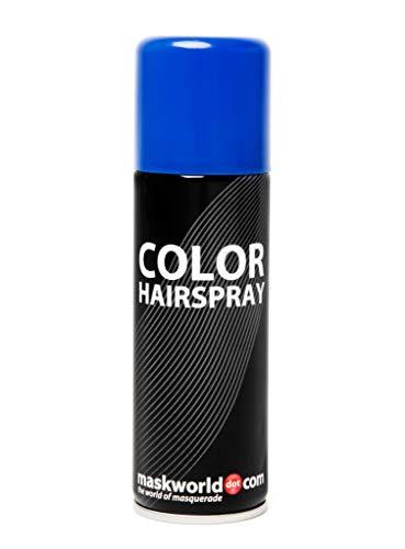 Maskworld Color Haarspray für farbig buntes Haar - Blau - Color Farbspray zum Verkleiden & Schminken für Karneval, Fasching, Halloween & Motto-Party