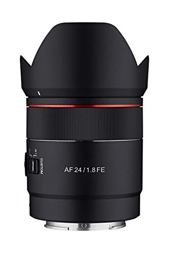 Samyang 24mm F1.8 AF Compact Full Frame Wide Angle for Sony E, Black (SYIO2418-E)