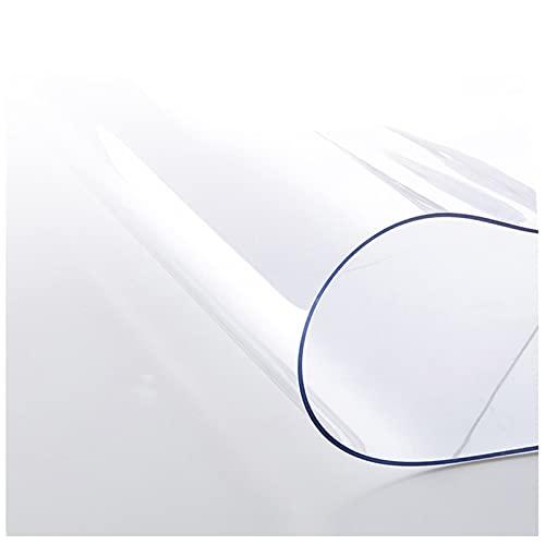 AJSJ Przezroczysty ochraniacz na stół, ochraniacz na biurko z tworzywa sztucznego PCW o grubości 1,5 mm, przezroczysta mata na biurko, wodoodporna podkładka na stół w jadalni lub biurku biurowym (rozmiar 60 x 200 cm/24 x 79 cali)
