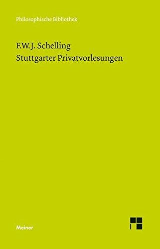 Stuttgarter Privatvorlesungen (Philosophische Bibliothek)