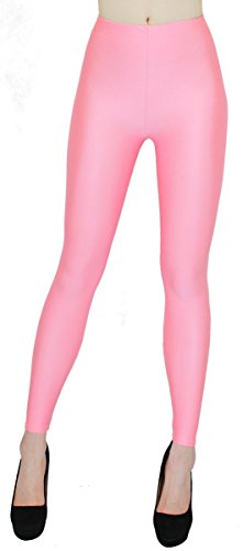 dy_mode Glanz Leggings Damen bunt viele Farben Tanz Leggings glänzende Leggins Shiny One Size - JL116 (One Size - geeigent für Gr. 36-38, JL116-Rosa)