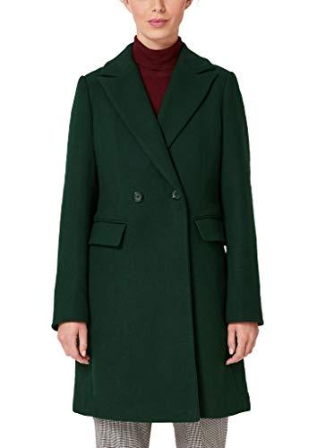 s.Oliver BLACK LABEL Damen 29.909.52.3437 Mantel, Grün (Luxury Smaragd 7975), (Herstellergröße: 38)