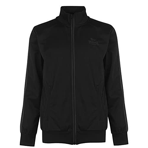Lonsdale Herren Trainingsjacke Jacke Sportjacke Sport Freizeit Reissverschluss Black/White XXX Large